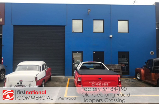 Factory 5/184-190 Old Geelong Road, HOPPERS CROSSING VIC, 3029